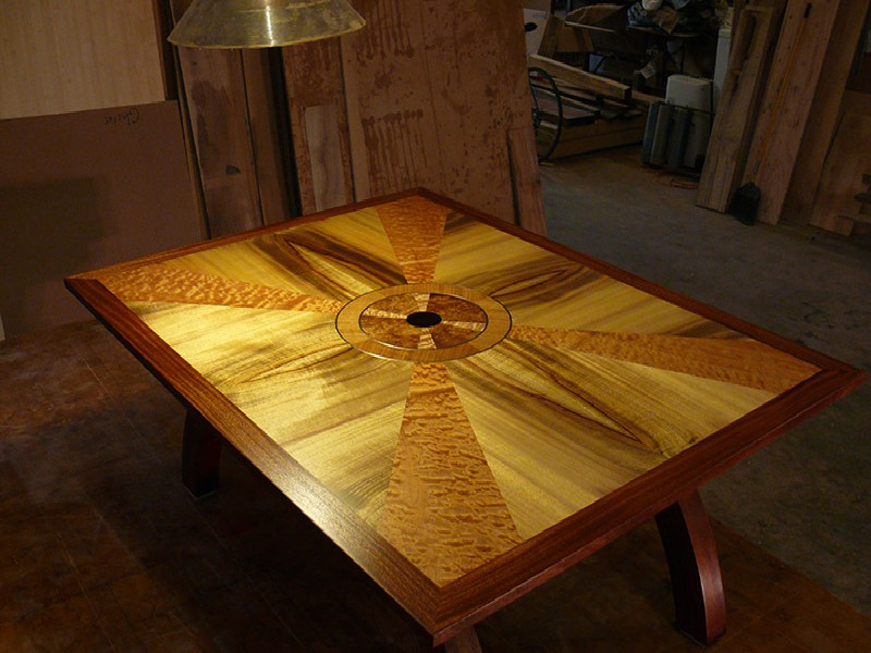 ... The Base And The Banding On The Top Are African Mahogany.